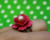 Victorian Romance Enameled Flower Filigree Ring (Vibrant Ring Collection)
