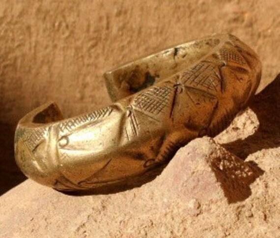 Old Tuareg Brass Bracelet