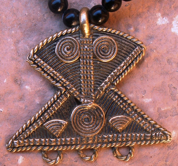 North African 'Peul'   Yellow Copper Amulet