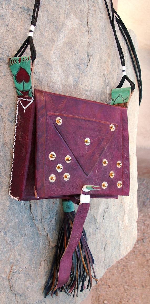 Tuareg Decorated Leather bag