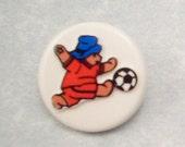 Buttons Paddington Bear Soccer  40th Anniversary