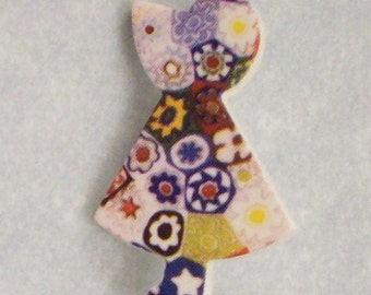 Buttons Quilters Girl Patchwork  - DIY Supplies on Etsy