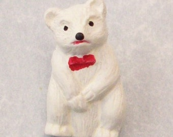 Buttons Polar Bear with a Red Bow Tie