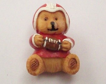Buttons Football Player Teddy Bears