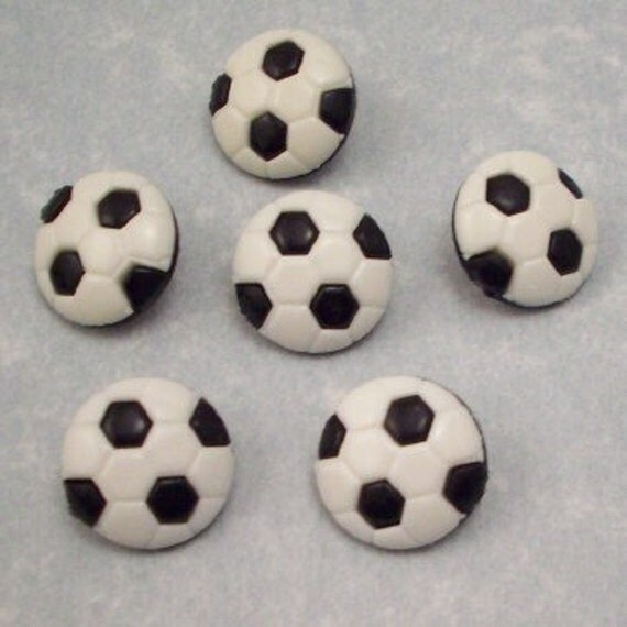 Buttons Soccer Balls - DIY Supplies on Etsy
