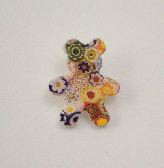 Buttons - Quilters Teddy Bear - Craft Supplies on Etsy