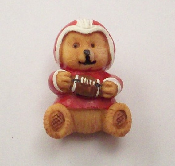 Buttons Football Player Teddy Bears