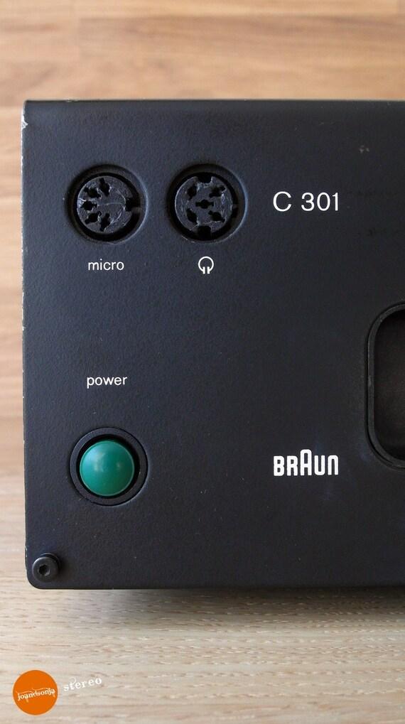 Braun C301 cassette deck, designed by Dieter Rams