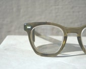 1950's Safety Glasses Olive Green with Wire Mesh Side Shields by Cesco