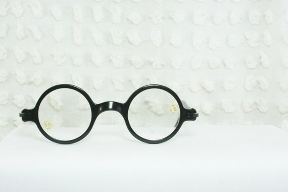 1930 s eyeglasses black horn circle by diaeyewear