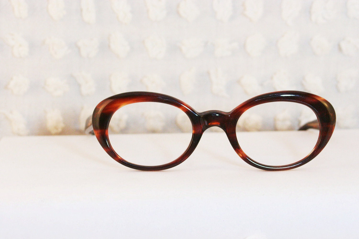 Eyeglass Frames Oval : Sibylle 1960s Eyeglasses Oval Cat Eye Mod by DIAeyewear ...