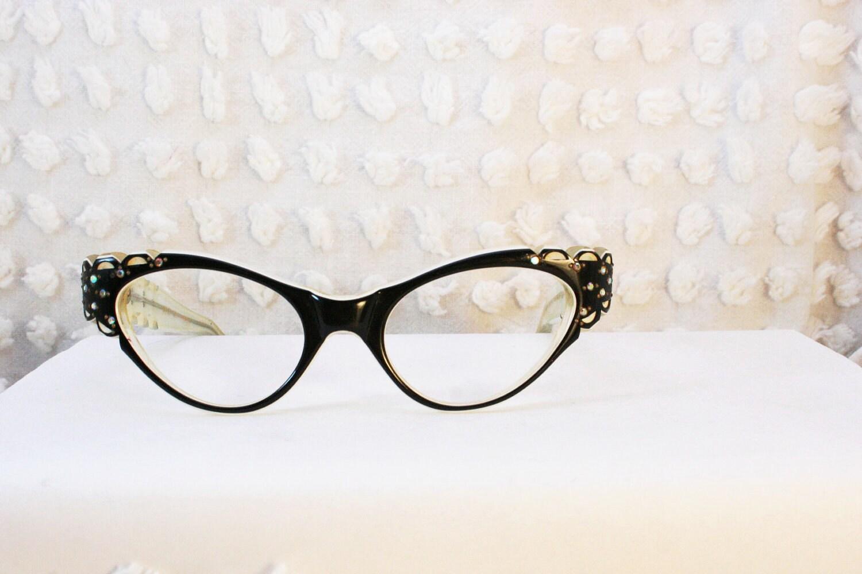 Cat Eye Women s Eyeglass Frames : 50s Cat Eye Glasses 1950s Womens Eyeglasses by DIAeyewear ...