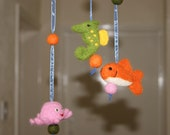 SALE Mobile - felted ocean cuties, natural toys