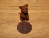 Miniature teddy bear, felted mini bear, teddy
