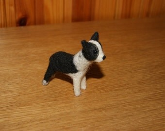 Felted dog, dog miniature, needle felted dog, natural sculpture, custom felted dog