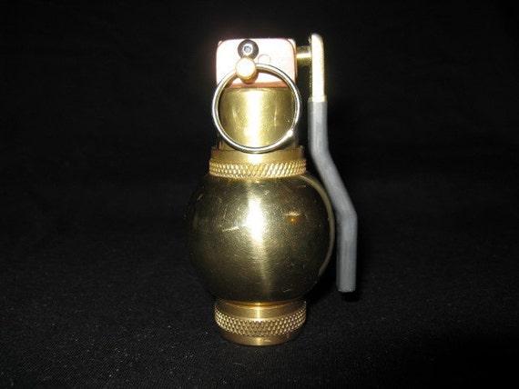 Brass Gernade Smoking Pipe