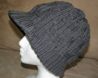 BEANIE KNITTING PATTERN VISOR - Free Patterns