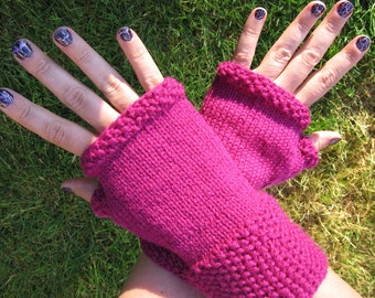 PDF Knitting Pattern Seed Stitch Fingerless Gloves