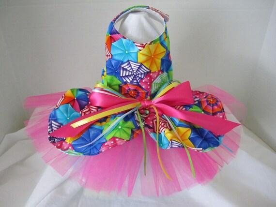 Dog Dress  XS   Beautiful Umbrellas     By Nina's Couture Closet