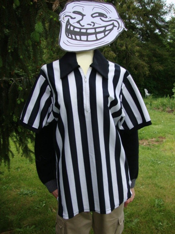 Striped Referee Shirt:  Get Your Whistle Handy