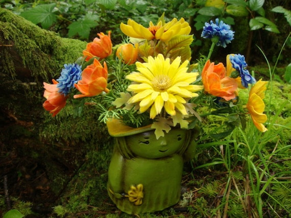 I Love the Flower Child: Ceramic Vase