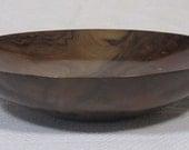 2565 Bowl, English Black Walnut, Brass Inlay 14x3 inches