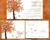 Fall Maple Tree Wedding Invitation Sample Packet - Fall In Love
