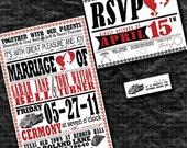 Fireman Personalized Wedding Invitation Set - Sample Packet