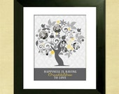 Personalized Family Tree, Custom Art From Your Photos, Christmas Gift, Anniversary or Housewarming Gift