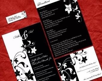 Customized Black and White Wedding Invitation Set - Sample Packet