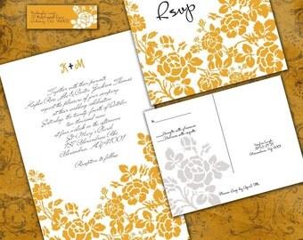 Custom Rose Wedding Invitation Set - Sample Packet