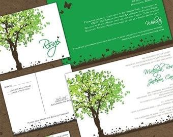 Summer Oak Tree Wedding Invitation - Summer Splendor  - Sample Packet