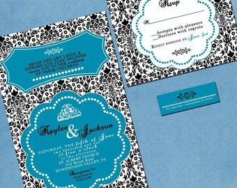 Damask Wedding Invitation - Sample Packet