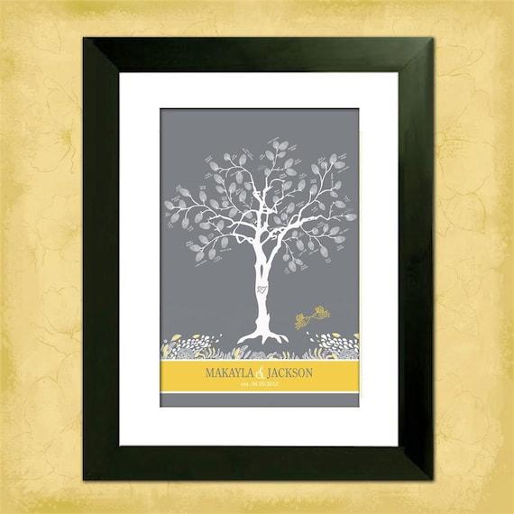 "Whimsical Birdies Custom  24"" x 36"" Wedding Tree"