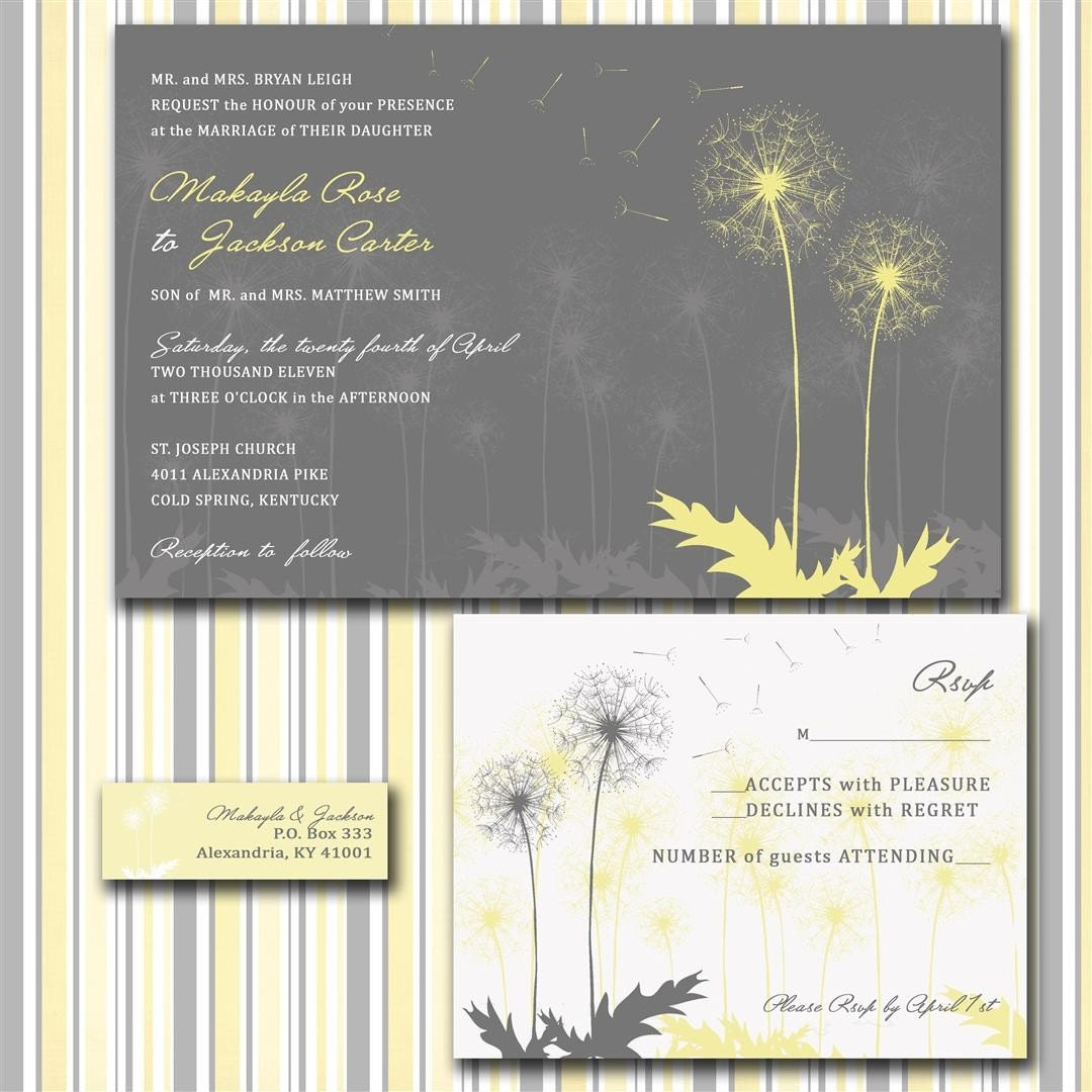 Fine And Dandy Custom Wedding Invitation Suite With RSVP Cards