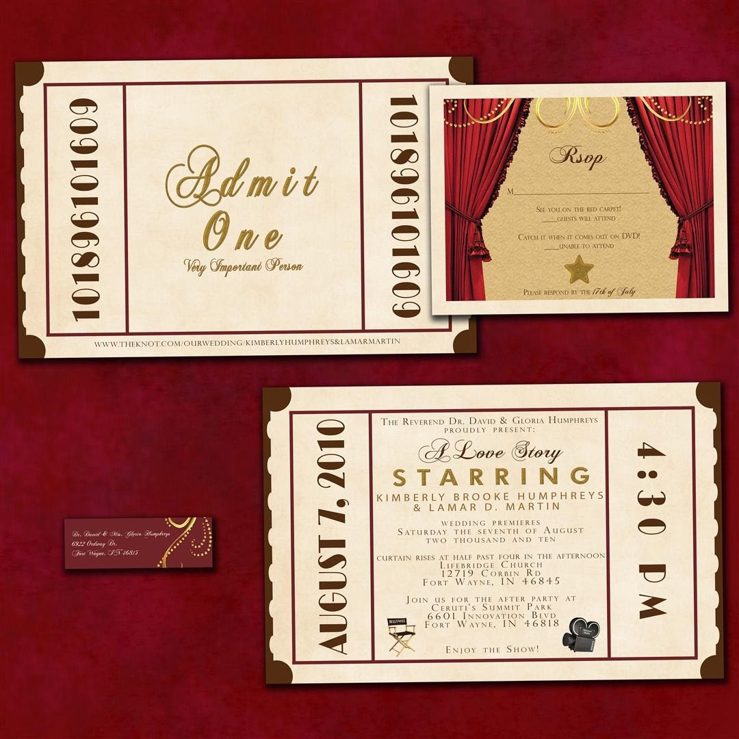 Ticket Wedding Invitations correctly perfect ideas for your invitation layout