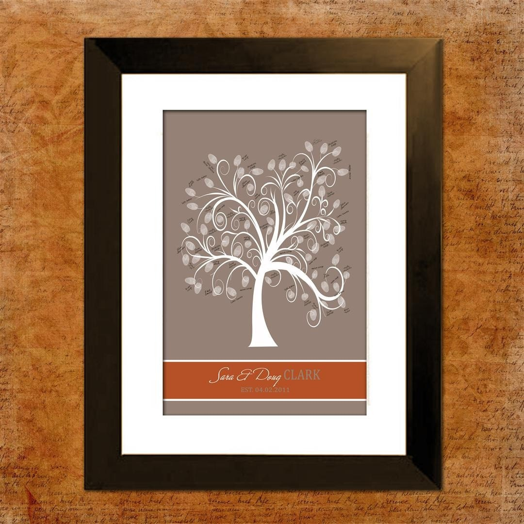 wedding tree guest book thumbprint tree rich by invitingmoments