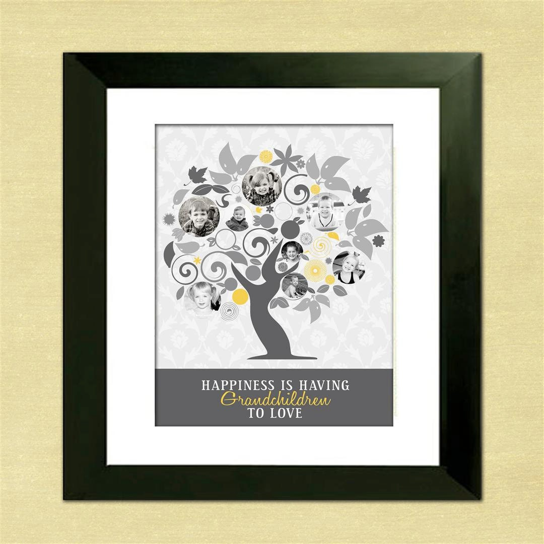 Personalized gifts for mom photo family tree custom art from for Family tree gifts personalized