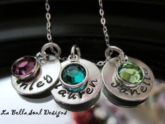 """Personalized Sterling Silver """"The Kids"""" Mom, Mommy necklace"""