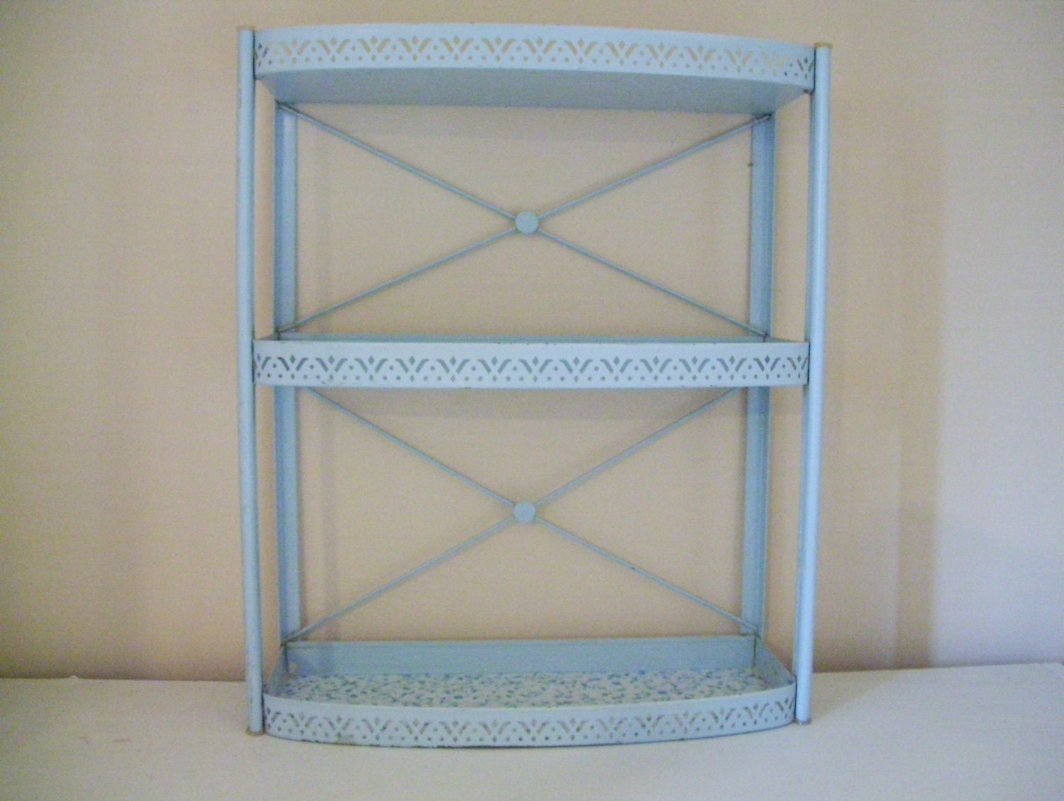 Vintage metal wall shelf by acottagekitchen on etsy - Wall metal shelf ...