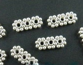 Tibetan Silver 3-holes Bar Spacers 12.5mm x 5mm .... 4 pieces