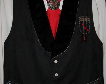 Mens Gothic  Cosplay Halloween  Vampire  Art Wear Vest