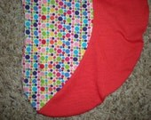 Red and Multicolored Dot Boppy Cover