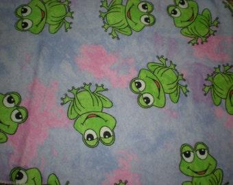 Frog Burp Cloth