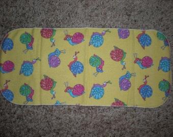 Yellow Snail Burp Cloth