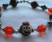 BEAUTIFUL Womens Stretchy Ohio State OsU CUTE Brutus Bracelet or Anklet. CUSTOMIZABLE. Great UNiQUE Gift by Local Artist.