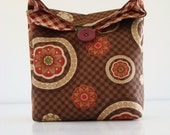 Chocolate Blossoms Pouch / lunch bag