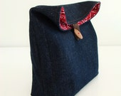 Denim Pouch / lunch bag / perfect for back to school