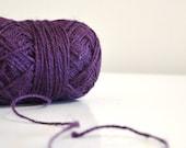 Burlap Twine 100 Yards - 100% Natural Jute String - Purple Color - 100 Yards Ball - Jute Yarn