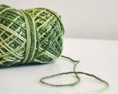 Green Mix Rustic Jute Twine / ombre twine / string / Yarn for crafting, kniting, gift wrap, scrapbook, wedding favors st patricks day